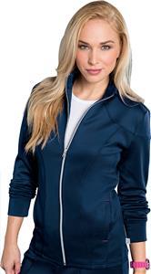 Smitten Womens Cranked Zip Front Scrub Jacket