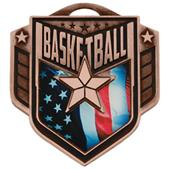 "Hasty Awards 2.25"" Liberty Basketball Medals M-742"