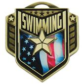 "Hasty Awards 2.25"" Liberty Swimming Medals M-742"