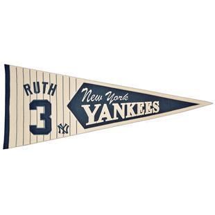 Winning Streak MLB Yankees Ruth Legends Pennant