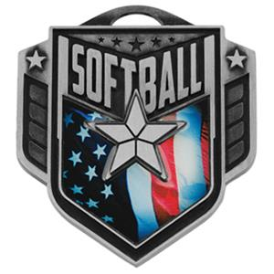 """Hasty Awards 2.25"""" Liberty Softball Medals M-742"""