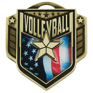 """Hasty Awards 2.25"""" Liberty Volleyball Medals M-742"""