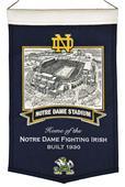 Winning Streak NCAA Notre Dame Stadium Banner