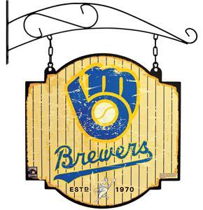 Winning Streak MLB Brewers Vintage Tavern Sign