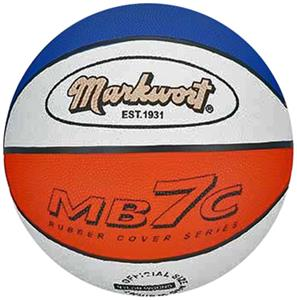 Markwort MB7 Blue/White/Orange Rubber Basketballs