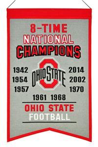 Winning Streak NCAA Ohio State Champions Banner