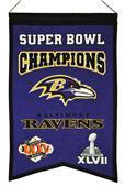 Winning Streak NFL Ravens Super Bowl Champs Banner