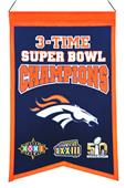 Winning Streak NFL Broncos Super Bowl Champ Banner