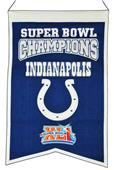 Winning Streak NFL Colts Super Bowl Champ Banner