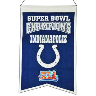 Winning Streak NFL Colts Super Bowl Champ Banner