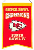 Winning Streak NFL Chiefs Super Bowl Champs Banner