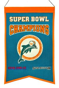 Winning Streak NFL Dolphins Super Bowl Banner