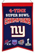 Winning Streak NFL Giants Super Bowl Banner