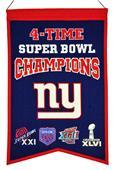 Winning Streak NFL Giants Super Bowl Banner