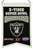 Winning Streak NFL Raiders 3x Super Bowl Banner