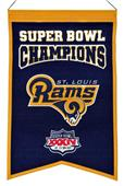Winning Streak NFL Rams Super Bowl Champs Banner