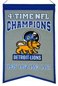 Winning Streak NFL Lions Super Bowl Champs Banner