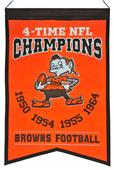 Winning Streak NFL Browns Super Bowl Champs Banner