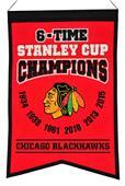 Winning Streak NHL Blackhawks 6x Champions Banner