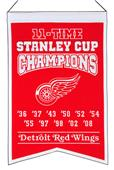 Winning Streak NHL Red Wings 11x Champions Banner