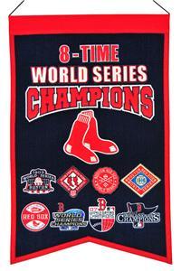 Winning Streak MLB Red Sox 8x Champs Banner