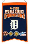 Winning Streak MLB Tigers 4x Champs Banner
