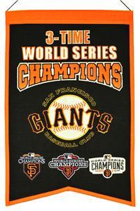 Winning Streak MLB Giants 3x Champs Banner