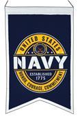 Winning Streak US NAVY Badge Blue Banner