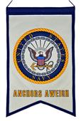 Winning Streak US NAVY Crest White Banner