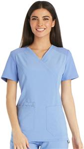 Cherokee Women's iFlex Mock Wrap Scrub Top