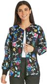 Cherokee Women's Knit Panel Warm-Up Scrub Jacket