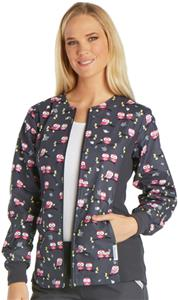 Cherokee Women's Zip Front Knit Warm-Up Jacket
