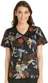 Cherokee Disney Women's Knit Panel Scrub Top