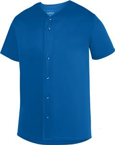 Augusta Men Youth Sultan Button Up Baseball Jersey