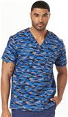 Dickies Mens V-Neck Scrub Tops