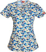 Dickies Women's Contemporary Round Neck Scrub Top