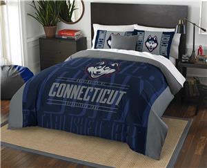 Northwest UConn Full/Queen Comforter & Shams
