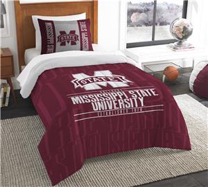 Northwest Mississippi State Twin Comforter & Sham