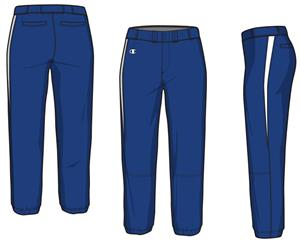Champion Women Girls Strike Softball Pants