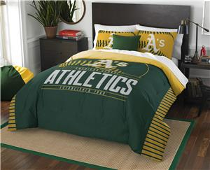 Northwest MLB Athletics Full/Queen Comforter/Shams