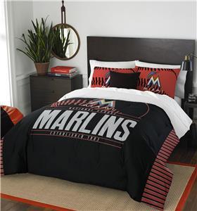 Northwest MLB Marlins Full/Queen Comforter & Shams