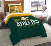 Northwest MLB Athletics Twin Comforter & Sham