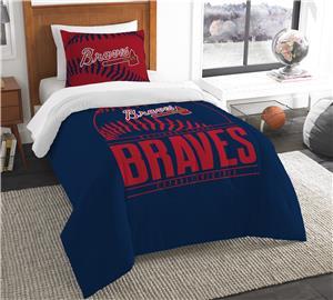 Northwest MLB Braves Twin Comforter & Sham