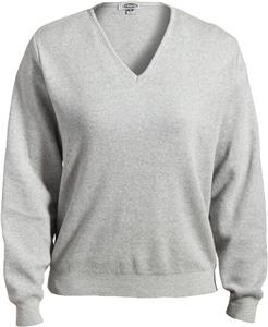 Edwards Womens Cotton V-Neck Sweater