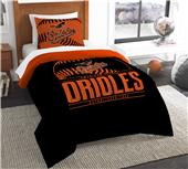 Northwest MLB Orioles Twin Comforter & Sham