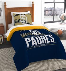 Northwest MLB Padres Twin Comforter & Sham