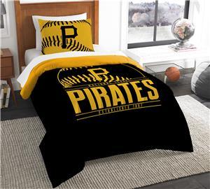 Northwest MLB Pirates Twin Comforter & Sham