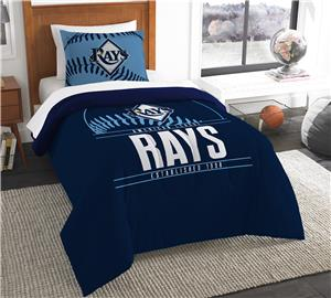 Northwest MLB Rays Twin Comforter & Sham