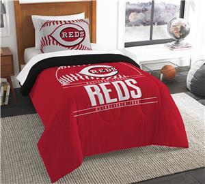 Northwest MLB Reds Twin Comforter & Sham
