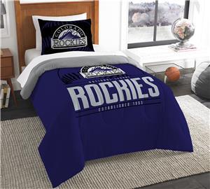 Northwest MLB Rockies Twin Comforter & Sham